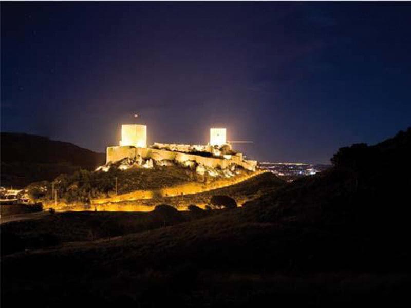 Iluminiación del Castillo de Lorca proyecto realizado por GTM