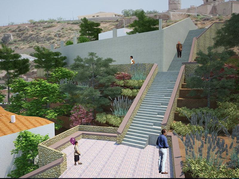 Diseño para el proyecto de reconstrucción de muralla medieval en Lorca