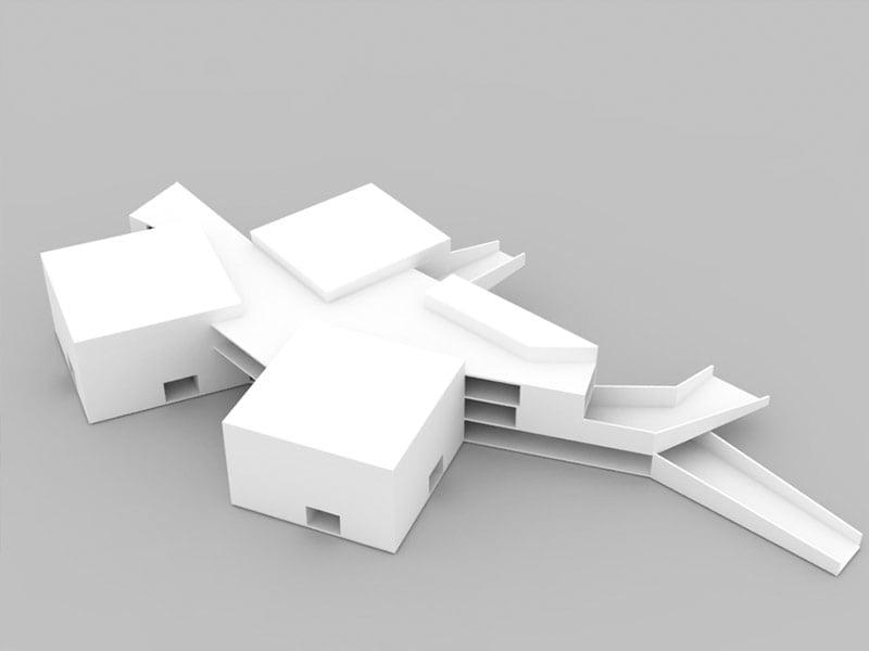 Plano en 3D para el proyecto de ingeniería colegio