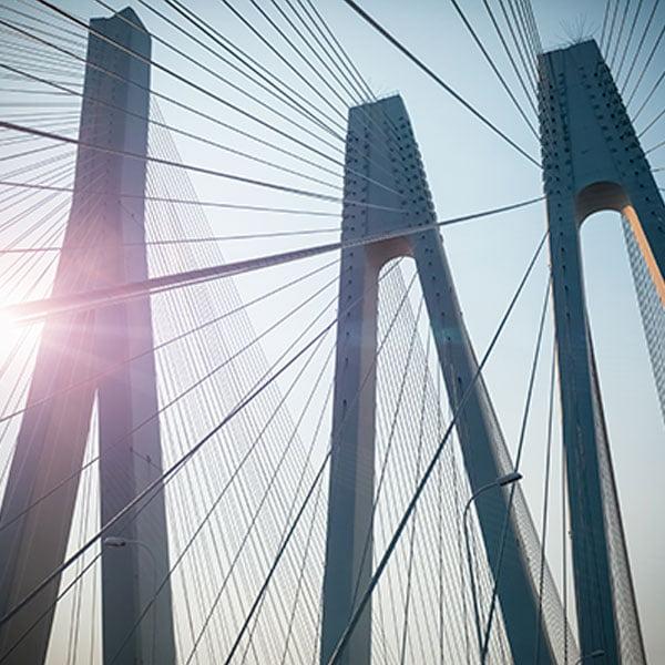 Puente estructura metálica