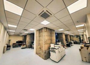 Nuestro estudio ha realizado la reforma de las instalaciones de climatización e iluminación de la planta de repografía del Ministerio de Hacienda.